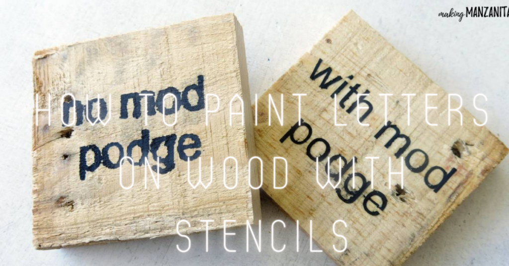 How to paint letters on wood with stencils